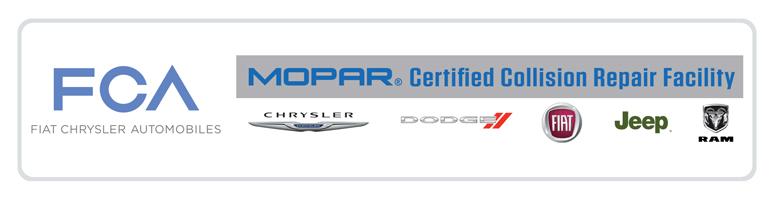 Mopar Certified Collision Repair: Chrysler, Dodge, Fiat, Jeep, RAM